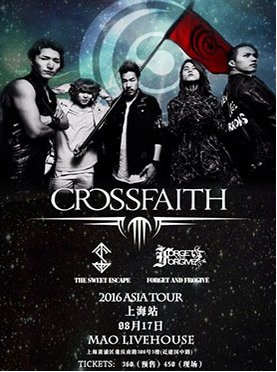 CROSSFAITH ASIA New Age Warriors Tour 2016 上海站