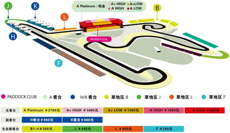 上海F1门票价格